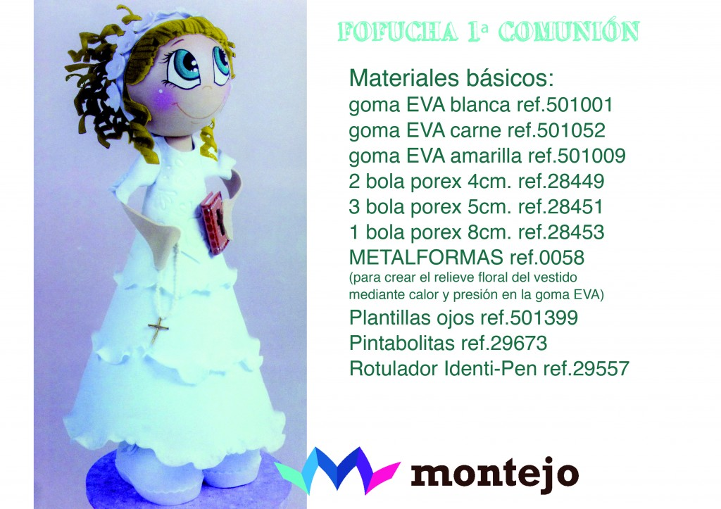 68e736b9d2b Tutorial Fofucha 1ª Comunión - Blog de Artesanías Montejo