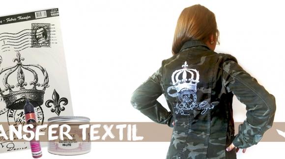 """""""AMERICANA D.I.Y"""" con transfer y pasta textil Hi-Lite"""